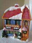 Cooks Club Ceramic Holiday Bakery Cookie Jar ~ Hand Painted