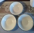 Homer Laughlin Best China Green & White Restaurant Ware Cereal Or Berry Bowls