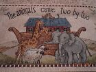 Noah's Ark wall hanging The animals came two by two tapestry decor