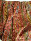 HORCHOW LEGACY HOME LINEN YELLOW RED BLUE  FRENCH COUNTRY DUST RUFFLE BED SKIRT