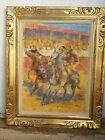 Rejoneador bullfighter Mexico bullfight painting Epifanio Ortega listed 1960