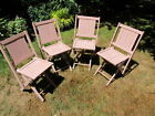 1920's Simmons Antique Folding Chairs Made in Kenosha, Wisconsin