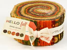 Hello Fall Jelly Roll 40 die cut  2.5 inch strips Sandy Gervais Free US PRIORITY