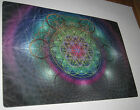 7 x 5 FLOWER OF LIFE SACRED GEOMETRY HOLOGRAM RAINBOW COLOR LASER ART PRINT