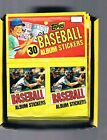 1982 TOPPS BASEBALL HANGER STICKER BOX OF 48 6 PACKS - MADE IN ITALY