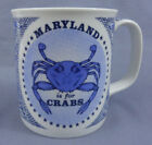 Vintage  Maryland is for Crabs -Coffee Mug- Blue Line State Travel Cup Souvenir