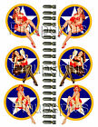 USA WWII Vintage Retro Pin up Girl Bomber Art Vinyl Decal Stickers 1048