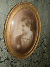WONDERFUL ORNATE VICTORIAN WOOD/GESSO CONVEX FRAME  BUBBLE GLASS