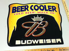 SV5 BUDWEISER BEER SIGN 3-D PLASTIC WALL TACKER BAR SIGNS 1 ANHEUSER-BUSCH BREW