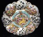 VTG NUDE CHERUB HAND PAINTED ITALY Capodimonte 900 PORCELAIN WALL HANGING  PLATE
