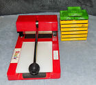 Sizzix Big Red Die Cutting Machine And 9 Sizzix Dies  USED
