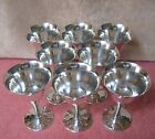 Vtg Crown EL De Uberti Italy 8 Silverplate Wine Goblets Cups Glass Chalice