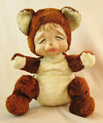 RARE VTG. 1940'S RUSHTON STAR CREATIONS RUBBER FACE CRYING POUTING TEDDY BEAR
