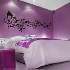 Home Room Decor Wall Sticker Mural Decal Removable Decoration Black Butterfly