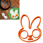 HOT Cute Silicone Clown Owl Rabbit Heart Skull Mould Egg & Pancake Rings Shaper