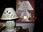 LENOX HOLIDAY CANDLE LAMP~NEW~CHRISTMAS~HOLLY~PORCELAIN
