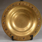 RARE TIFFANY BRONZE GOLDTONE DORÉ CARD TRAY BOWL DISH ABALONE BORDER   ID#279