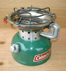 VINTAGE COLEMAN 502 OUTDOORS BACKPACK HUNTERS CAMPING WHITE GAS STOVE 9-1984 USA