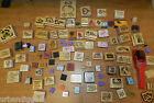 9489 LARGE Lot of 95 Wood RUBBER CRAFTING STAMPS Scrapbooking Scrap Book