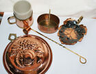 Vintage Mixed Lot of 5 Copper/brass Mug  Candle Snuffer Basket Coppercraft Guild