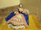 German Dresden Volkstedt Porcelain Lace Figurine Lady With Parrot