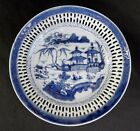 A fine quality Canton Chinese porcelain blue and white plate, 1790