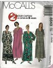 8543 UNCUT Vintage McCalls Sewing Pattern Misses 2 Hour Caftan Casual RARE HTF