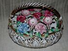 Frog Large Centerpiece Flower Basket ~Staffordshire Very Rare !!