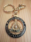 Masonic Key Chain K08 Mason Freemason PAST MASTER WISDOM LEADERSHIP