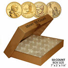 50 PRESIDENTIAL 1 Direct Fit Airtight 26mm Coin Capsule Holder QTY 50 w BOX
