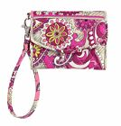 Vera Bradley Super Smart Wristlet in Paisley Meets Plaid
