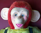 Vintage Monkey Chimp Jee Bee Creations Rubber Face Plush Stuffed Toy Plushie