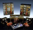 ESTATE LOT ANTIQUE JAPANESE GOLD GILT LACQUER MINIATURE CHESTS BOX CABINETS INRO