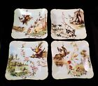Charles Ahrenfeldt and C F Haviland Limoges GAME PLATES Set of 4 late 1800s
