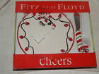 FITZ & FLOYD CHEERS SNAKE PLATE WITH SPREADER, CHRISTMAS CANDY CANE NIB