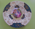 Royal Vienna Porcelain Plate, Royal Vienna Beehive Shield Mark and gold stamp