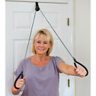 NEW Over The Door Upper Body Resistance Pulley Exerciser System - Easy To Anchor