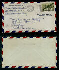 AIR MAIL COVER 8c #C26 Transport - San Fransisco CA to Clayton NC - Feb 24 1946