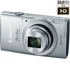 Canon PowerShot ELPH 170 IS 20MP 12x Opt Zoom Digital Camera - Silver