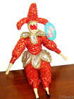 NWT Red/Gold Sugar Loaf Classiques Jester Clown Porcelain Doll Toys