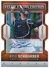 2014 Panini Elite Extra Edition KYLE SCHWARBER Status AUTO 05 10 RC CHICAGO CUBS