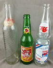 Vintage lot of 3 soda bottles Sundrop 1980 Earnhardt double cola RC agricultural