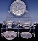 FINE ESTATE LOT CONTINENTAL SOLID SILVER WINE TASTING CUPS SALT CELLAR BOWL ++