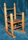 NICE VINTAGE? WOOD DOLL ROCKING CHAIR WITH WOVEN SEAT! DOLLS BEARS