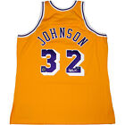 Magic Johnson Signed 1984-85 Los Angeles Lakers Authentic Gold Jersey Steiner