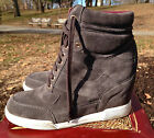 Marc by Marc Jacobs Gray Hidden Wedge High Top Sneakers SZ 41 M (US 11)