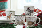 Circus Set/4 Zoo MUG Giraffe Rhino Turtle Dove Zebra Chicken Noahs Ark New 0