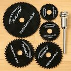 5Pcs HSS Saw Blades + 1 Mandrel For Metal Power Rotary Tool Cutting Discs Wheel