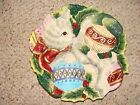 Fitz and Floyd Essentials Kristmas Kitty Decorative Plate Holly Berries Ornament