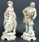 Richard Eckert & Co GERMAN MEISSEN BISQUE VICTORIAN LADY AND GENTLEMAN FIGURINES